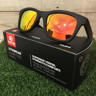 ウェリントン  偏光サングラス 新品 オレンジ ミラーレンズ UV400(その他)