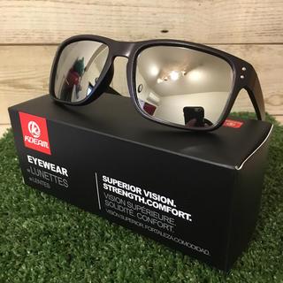 新品 偏光サングラス シルバー ミラーレンズ ホルブルック型 UV400(その他)