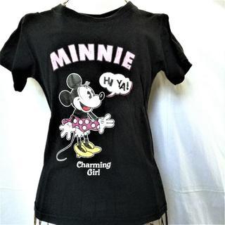 ディズニー(Disney)の【ディズニー ミニーTシャツ ピンク ドット柄】(Tシャツ(半袖/袖なし))