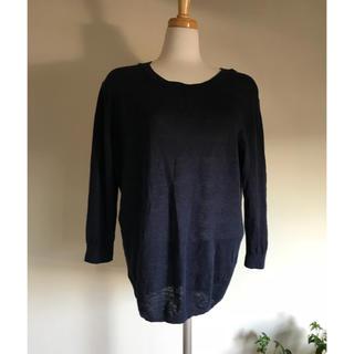 MUJI (無印良品) - 無印良品 フレンチリネン 七分袖 麻100% L