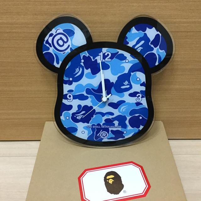 A BATHING APE(アベイシングエイプ)の送料込BE@RBRICK APE WALL CLOCKエイプ掛け時計 インテリア/住まい/日用品のインテリア小物(掛時計/柱時計)の商品写真