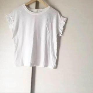 Ungrid - 袖フリンジ Tシャツ