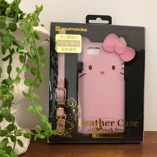 ハローキティ - Sanrio ハローキティ ストラップ付き レザーケース iPhone6/6s