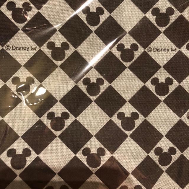 ミッキーマウス(ミッキーマウス)のミッキー 巾着袋 モノトーン キッズ/ベビー/マタニティのこども用バッグ(ランチボックス巾着)の商品写真