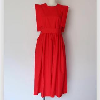 ソウワ(SOWA)のQFD コットンロングワンピース ドレス 赤(ロングワンピース/マキシワンピース)
