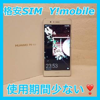 アンドロイド(ANDROID)のHUAWEI P9 lite White 16 GB Y!mobile(スマートフォン本体)