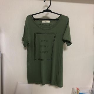 イッカ(ikka)の【ikka】秋のカーキ Tシャツ  M(Tシャツ(半袖/袖なし))