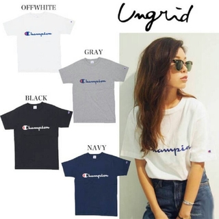 Ungrid - Ungrid × champion コラボTシャツ チャンピオン