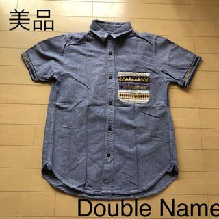 ダブルネーム(DOUBLE NAME)の美品☆ダブルネーム 刺繍ポケット半袖シャツ(シャツ/ブラウス(半袖/袖なし))