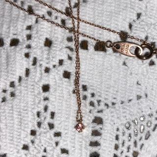 エテ(ete)のete K10 ピンクダイヤモンド ネックレス(ネックレス)