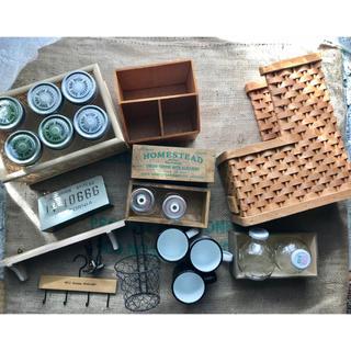 MUJI (無印良品) - かご 瓶 木箱 インテリア雑貨大量 引っ越し整理 無印良品 キャトルセゾン