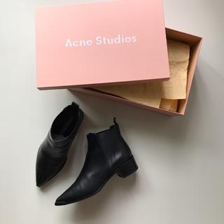 アクネ(ACNE)のAcne Studios 定番 チェルシーブーツ Jensen サイドゴア 美品(ブーツ)