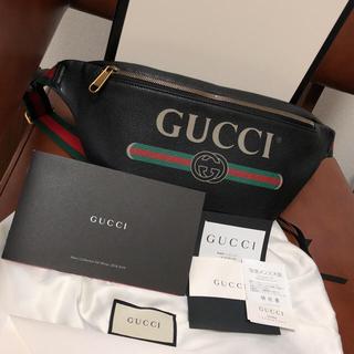 グッチ(Gucci)の新品  gucci ビンデージ ロゴ ボディバッグ ベルトバッグ ブラック(ボディーバッグ)