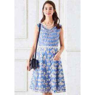 トッカ(TOCCA)のTOCCA LATIFLOLIA ドレス ブルー系 00サイズ ワンピース (その他)
