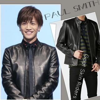 ポールスミス(Paul Smith)の新品 セール☆Paul Smithライダース❦抜群の美ライン最高峰の憧れを着る(レザージャケット)