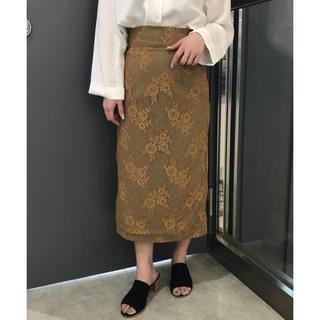 アンレリッシュ(UNRELISH)の未使用タグ付き アンレリッシュ シースルーリネンタイトスカート(ひざ丈スカート)