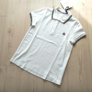 モンクレール(MONCLER)のサイズS ホワイト ポロシャツ モンクレールレディース(ポロシャツ)