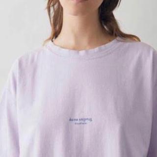 アクネ(ACNE)のAcne Studios ロゴTシャツ ライラック(Tシャツ(半袖/袖なし))
