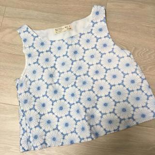 ザラ(ZARA)のZARAガールズノースリーブトップス7歳用(Tシャツ/カットソー)