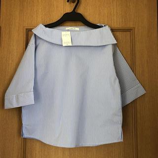 アンレリッシュ(UNRELISH)の未使用タグ付き UNRELISH ストライプシャツ(シャツ/ブラウス(半袖/袖なし))