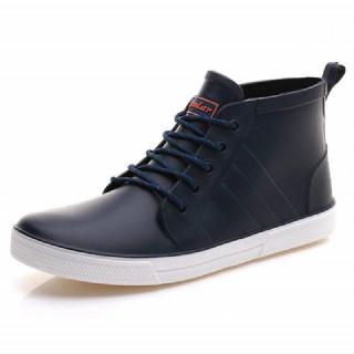 BL27cm【新品】 レインブーツ ショート丈 メンズ レースアップ(長靴/レインシューズ)