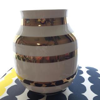 ケーラー(Kahler)の新品未使用★175周年限定販売・Kahlerケーラー★ゴールド(花瓶)