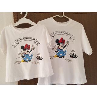ユニクロ(UNIQLO)のUNIQLO ミニーTシャツ 女の子♥親子ペア(Tシャツ/カットソー)