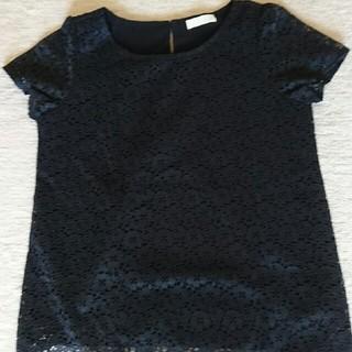 インデックス(INDEX)の未使用品 レース半袖カットソー サイズM(カットソー(半袖/袖なし))