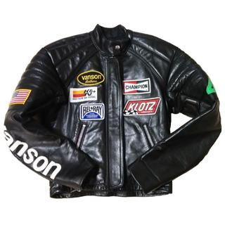 バンソン(VANSON)のVANSON バンソン シングルライダース レザー 36 S(ライダースジャケット)