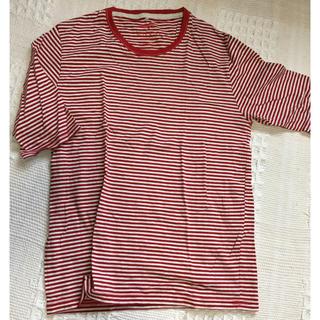イッカ(ikka)のTシャツ 赤ボーダー(Tシャツ/カットソー(半袖/袖なし))