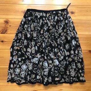 エポカ(EPOCA)の(未使用)エポカ フレアー シフォン デザイン スカート フラワー(ひざ丈スカート)