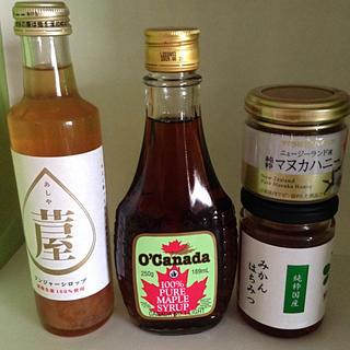 純粋マヌカハニー ジンジャーシロップ  純粋国産みかん蜂蜜 メープルシロップ(その他)