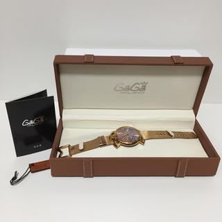 ガガミラノ(GaGa MILANO)のガガミラノ マヌアーレ46 スリム 腕時計 ゴールド(腕時計(アナログ))