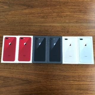 アップル(Apple)の★新品★ au iphone8 PLUS 64GB SIMフリー 6台セット(スマートフォン本体)