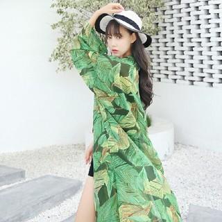 ❤大人気❤春夏カーディガン/ボレロ日焼け止め服緑ゆったりおしゃれ(ロングコート)