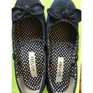 ネイビー 靴 リボン(ハイヒール/パンプス)