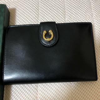 グッチ(Gucci)のGUCCI 二つ折り財布 リザード 箱付き 【本日中のみ値引き可能】(折り財布)
