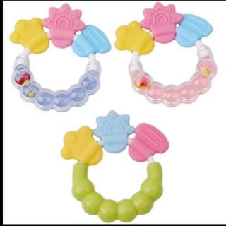 赤ちゃん 歯固め 歯がため ガラガラ  おもちゃ(がらがら/ラトル)