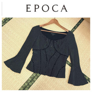 エポカ(EPOCA)の【美品】エポカ♡シルクのドット柄ブラウス(シャツ/ブラウス(長袖/七分))