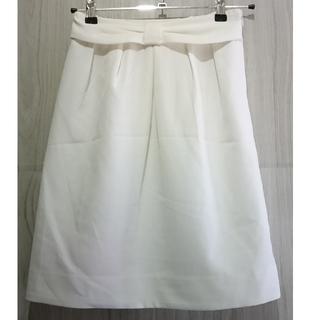 アロー(ARROW)のアロー ホワイト タイトスカート タグ付未着用品(ひざ丈スカート)