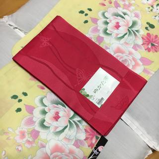 半幅帯 単帯 濃いピンク 浴衣は別売りです(浴衣)