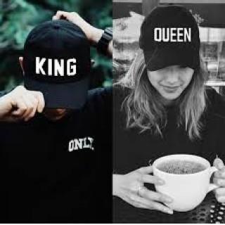 2つセット KING & QUEEN  ペアルック 帽子 キャップ お揃い(キャップ)