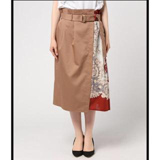 アッシュペーフランス(H.P.FRANCE)のTitilate Valet ☆スカーフプリント スカート(ロングスカート)