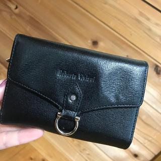 財布 黒 フェイクレザー(折り財布)