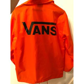 ヴァンズ(VANS)のVANS コーチジャケット  オレンジ ストリート(ナイロンジャケット)