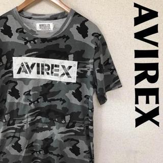 アヴィレックス(AVIREX)のAVIREX アヴィレックス Tシャツ デカロゴ BOXロゴ カモ柄 0815(Tシャツ/カットソー(半袖/袖なし))