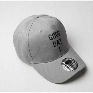 good day ! 刺繍 ロゴ キャップ 帽子  ローキャップ グレー(キャップ)