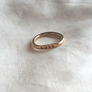 アッシュペーフランス(H.P.FRANCE)のSERGE THORAVAL(セルジュトラヴァル)のloveリング(リング(指輪))