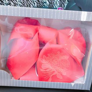 浴衣 作り帯 ショッキングピンク 薔薇刺繍入り 美品(浴衣帯)