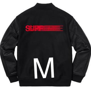 シュプリーム(Supreme)のsupreme モーションロゴ ジャケット M(レザージャケット)